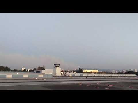 Dec 6 2017 skirball fire from santa Monica airport 2