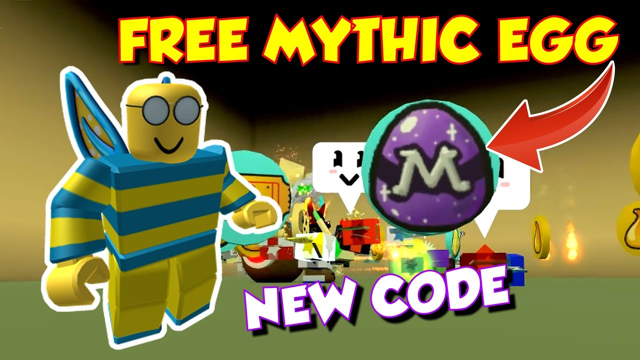 Free Mythic Bee Egg And New Bee Swarm Simulator Code Youtube
