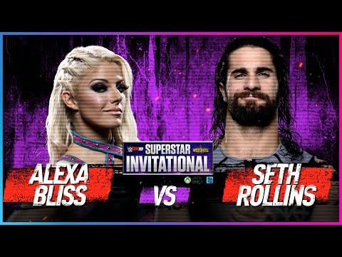 ALEXA BLISS Vs. SETH ROLLINS: Rd. 1 - WWE 2K18 Superstar Invitational Tournament
