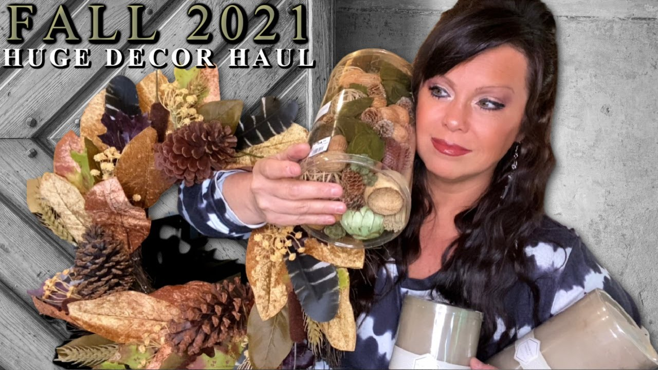Getting Ready For Fall 2021 - HUGE Decor Haul! Homegoods, Michaels, At Home, Hobby Lobby, Kirklands!