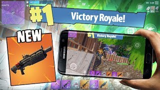 NEW HEAVY SHOTGUN VICTORY ROYALE GAMEPLAY! FORTNITE MOBILE 1ST PLACE GAMEPLAY!