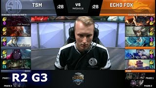 Echo Fox vs TSM - Game 3 | Round 2 S8 NA Regional Qualifier for S8 Worlds 2018 | TSM vs FOX G3