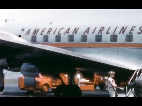 "American Douglas DC-6 & Convair CV-240 - ""Ramp Action LaGuardia"" - 1955"