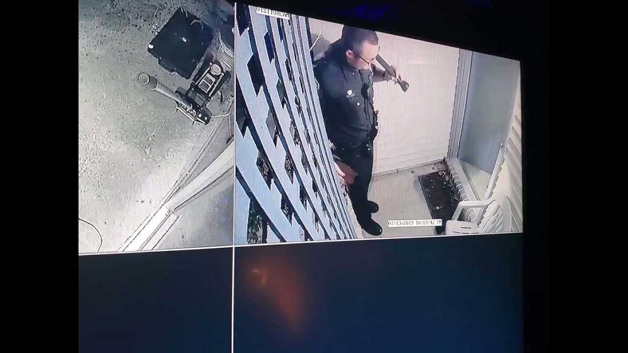 July 13, 2019 10:12PM Virginia Beach Police Officer Destroying Property while on Duty