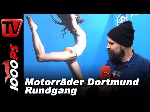 Motorräder Dortmund Messe 2018 Rundgang mit K OT