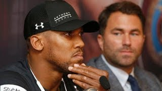 EPIC LIVE INTERVIEW WITH EDDIE HEARN AND ANTHONY JOSHUA IN NEW YORK VIA BLUE BLOODS SPORTS TV!