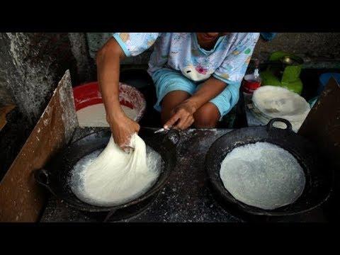 Proses Pembuatan Kulit Lumpia | Jajanan Khas Indonesia