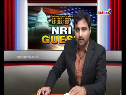 NRI Guest live show on Telangana Reservations PART 1 || MANATV