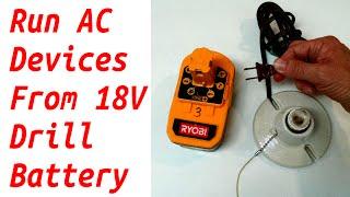 18v Aracı Pil 110 V AC Cihazlar çalışma Da 12 V Araba Aygıtları Çalıştırmak