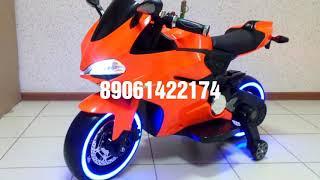 видео Детский мотоцикл A001AA с подсветкой колес