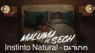Maluma ft sech - instinto natural מתורגם
