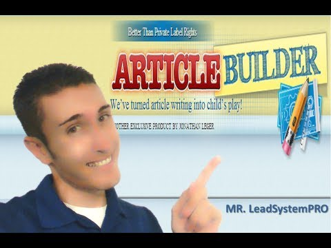 Article Writing Software that WORKS | Article Builder Review