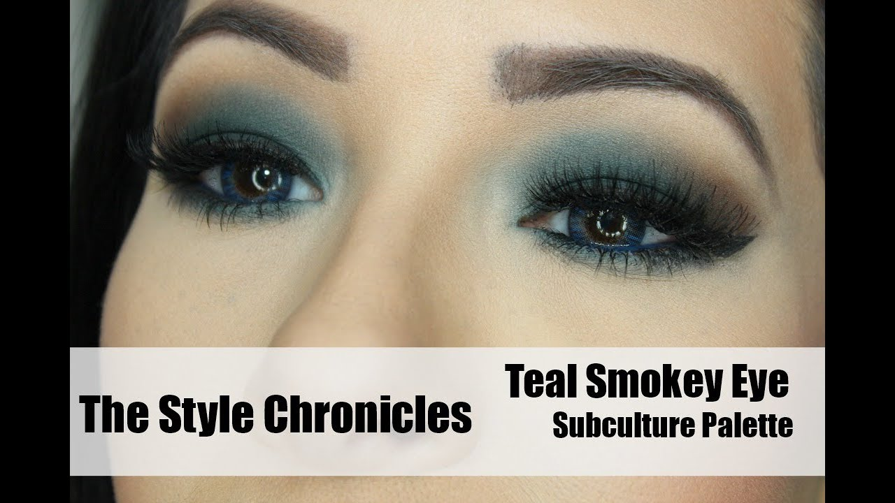 Smokey Teal Eye Shadow Tutorial Subculture Palette Youtube
