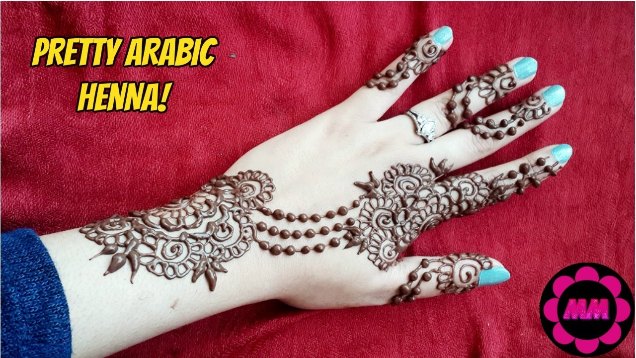Simple Arabic Style Henna Easy Stylish Mehendi Pattern