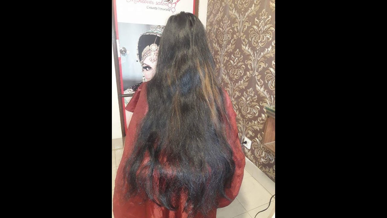 indian women long hair cut rerbonding ||long rerbonding cut