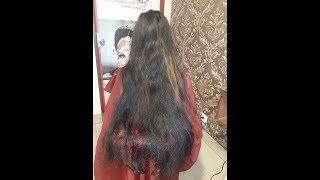 Indian women long hair cut  rerbonding ||Long  rerbonding cut