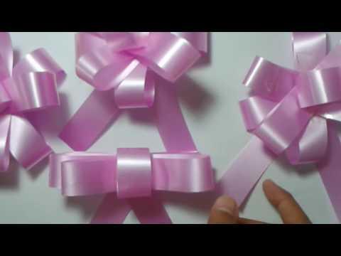 Cara Membuat Bunga Pita Dari Pita Jepang