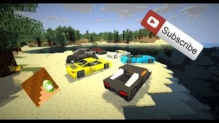 SuperCars dans MineCraft (Poker's Garage Mod V: 1.6.4)