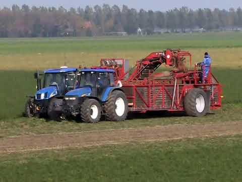 Samon self unloading 8-boxtrailer wortelwagen