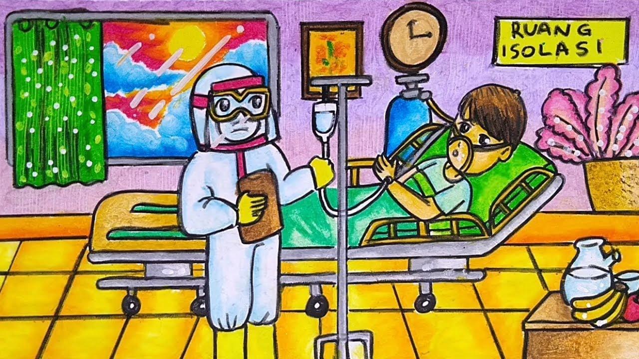 Cara Menggambar Dan Mewarnai Tema Doktor Dokter Melawan Virus Corona Covid 19 Covid 19 Yang Mudah