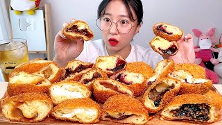 여러가지 도너츠 누텔라 크림치즈 땅콩 흑임자 카라멜 블…