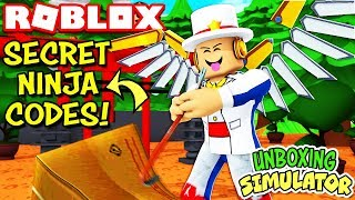 *New* Secret Ninja Temple Codes in Unboxing Simulator (Roblox)