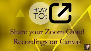 How to Share CANVAS Zoom Video, Audio, & Transcript Recordings for Accessible Online Learning