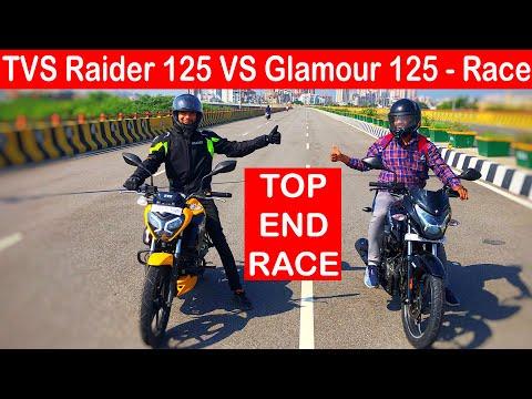2021 TVS Raider VS Glamour 125 Drag Race l Top End Race l Aayush ssm