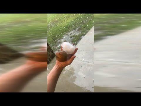 Gewaltiges Unwetter in Texas lässt Baseball-große Hagelkörner runter