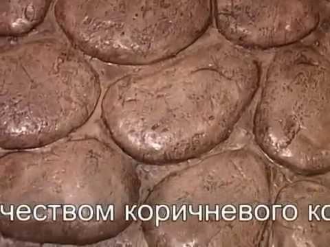 Имитация пола из речных камней вместо кафеля