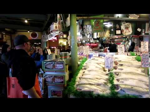 World famous pike place fish market in seattle youtube for Phil s fish market eatery