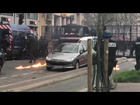 More rioting in Paris. Police getting  firebombed
