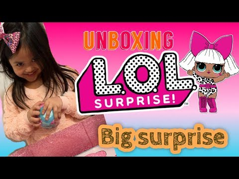 5 year old girl UNBOXING L.O.L. Surprise! Bigger Surprise with 60+ Surprises