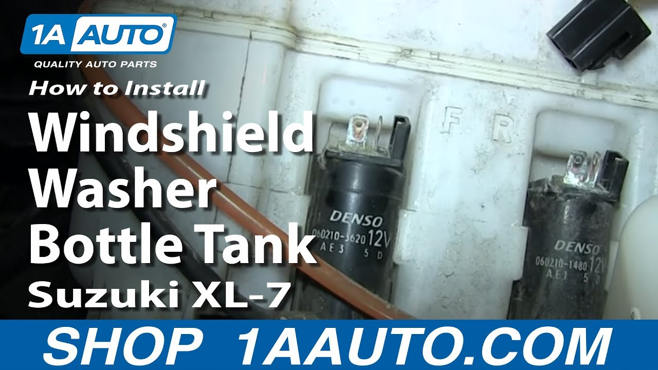 How To Install Replace Windshield Washer Bottle Tank