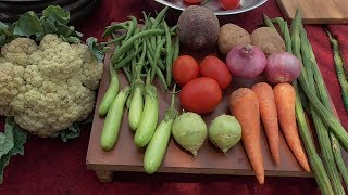 MIXED VEGETABLE CURRY / QUICK AND EASY HEALTHY VILLAGE FOOD