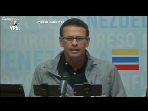 Capriles denuncia que usan presos para reprimir manifestaciones #LoMásVistoVPITV