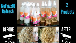 NoFrizz10 REFRESH Products/DEMO & Curly Hair TIPS/Quick No Water