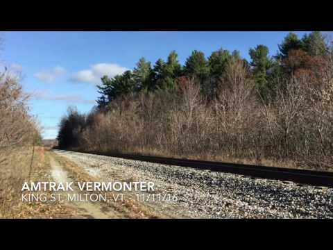 Railfanning Milton, Vermont - November 2016