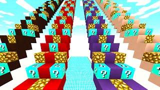 Minecraft Modded Minigame: LUCKY BLOCK STAIR RACE! #1 - w/PrestonPlayz & Friends