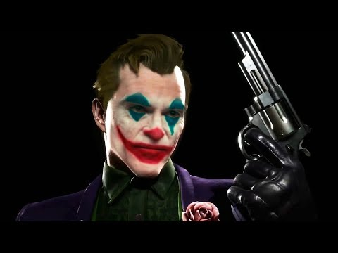MK11 - Joker Joaquin Phoenix Skin Makeup + Original Intros & Victories [DeepFake] - Mortal Kombat 11