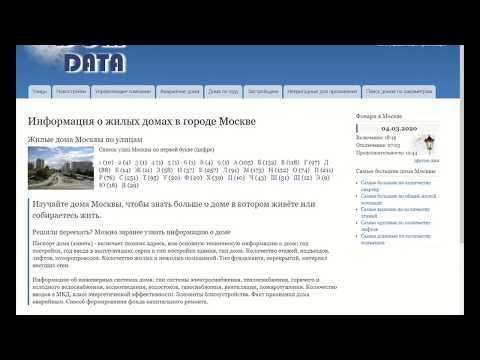 Год дома по адресу в Москве