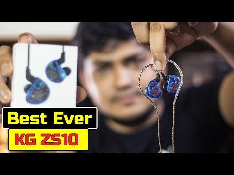 KZ ZS10 HiFi 10 Drivers 4BA+1DD Hybrid Earphone review । Best Mid-range ...