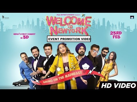 Welcome To New York (वेलकम तो नेव्योर्क) Bollywood Movie Promotion Video | Sonakshi | Diljit | Karan