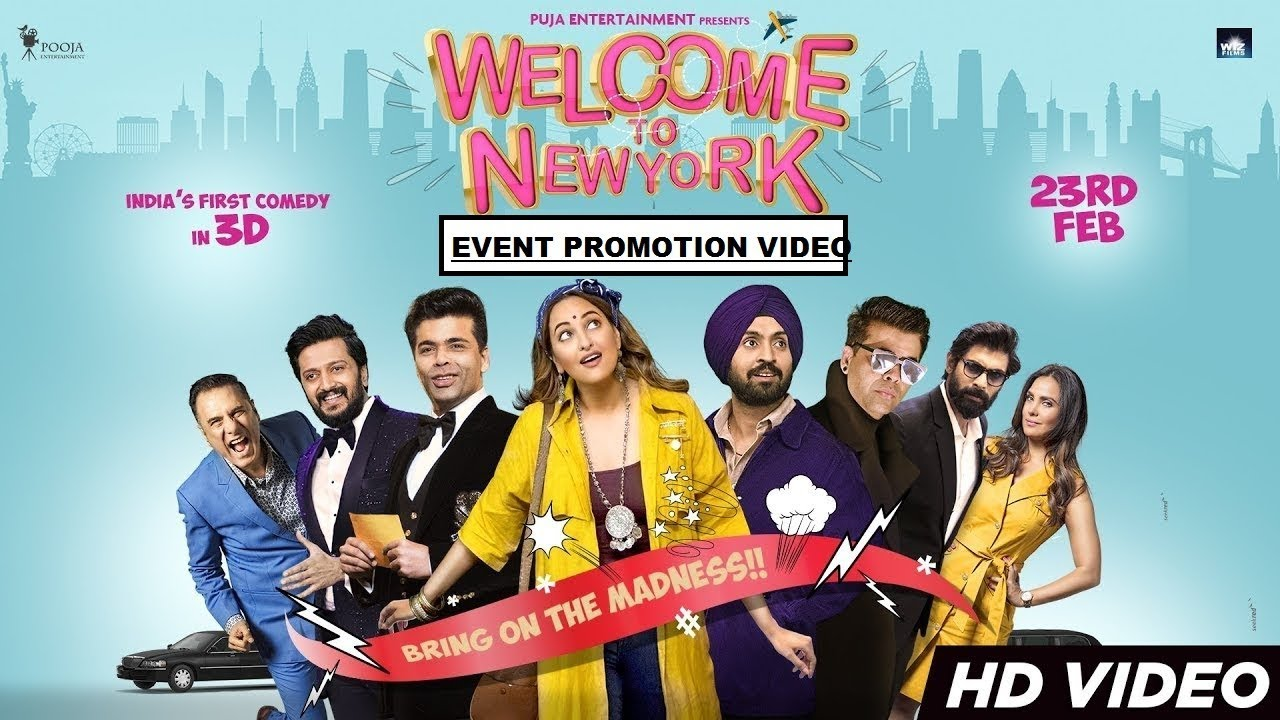 Download Welcome To New York (वेलकम तो नेव्योर्क) Bollywood Movie Promotion Video | Sonakshi | Diljit | Karan