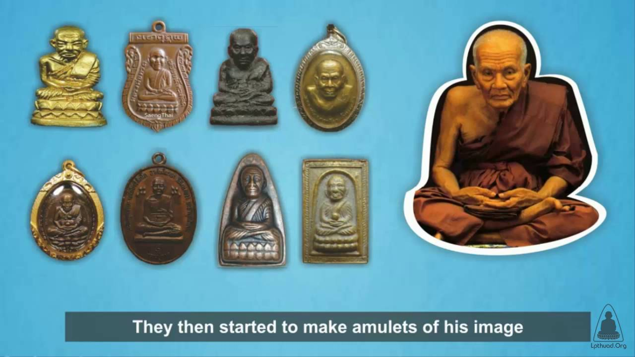 LP Thuad Thai Amulet Buddha Monk Pendant Powerful Magic Protect Life Accidents