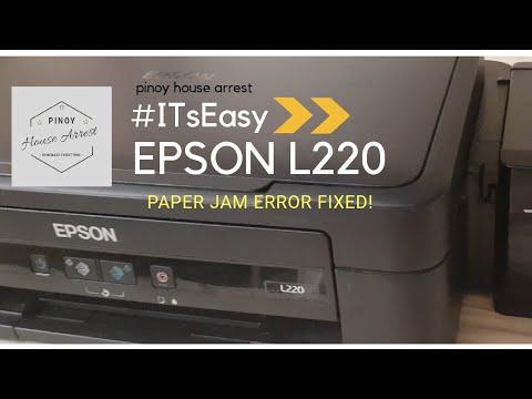 #pinoyhousearrest #ITsEasy EPSON L220 PAPER JAM ERROR Fixed!!!