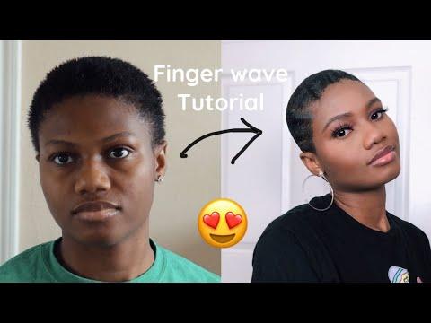 finger-waves-tutorial-2020 -styling-short-hair-😱
