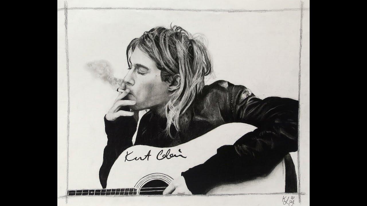 It's just a photo of Smart Drawing Of Kurt Cobain