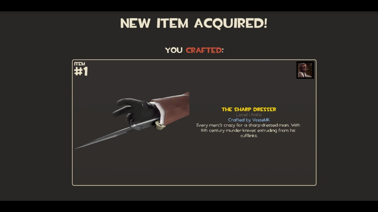 How to craft the Sharp Dresser 50 times!!! Team Fortress 2 tf2