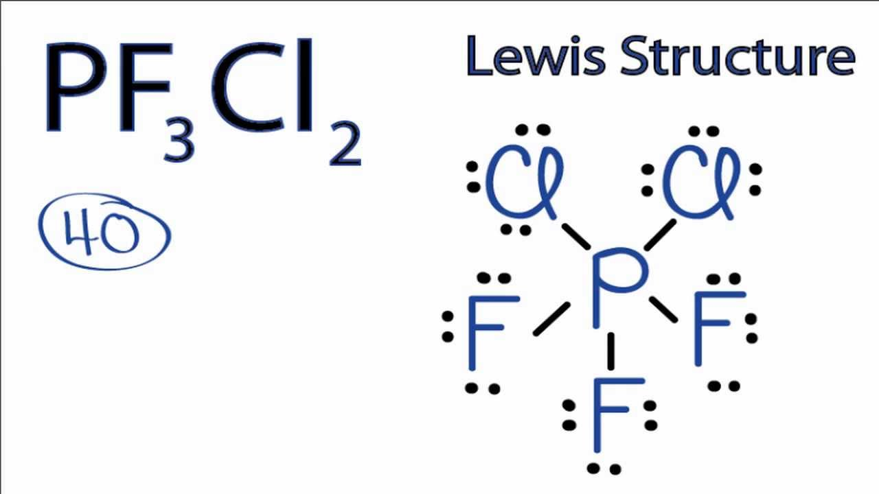 PF3Cl2 Lewis Structure: How to Draw the Lewis Structure